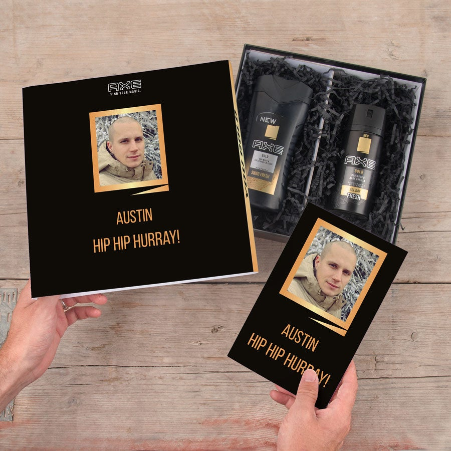 Axe-gavesæt – Shower Gel og Deodorant - Notesbog (Gold)