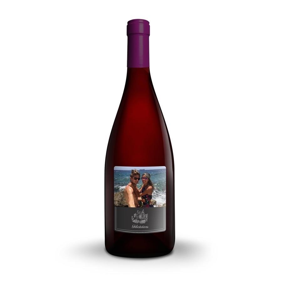 Bouteille de vin Farina Amarone della Valpolicella avec étiquette personnalisée