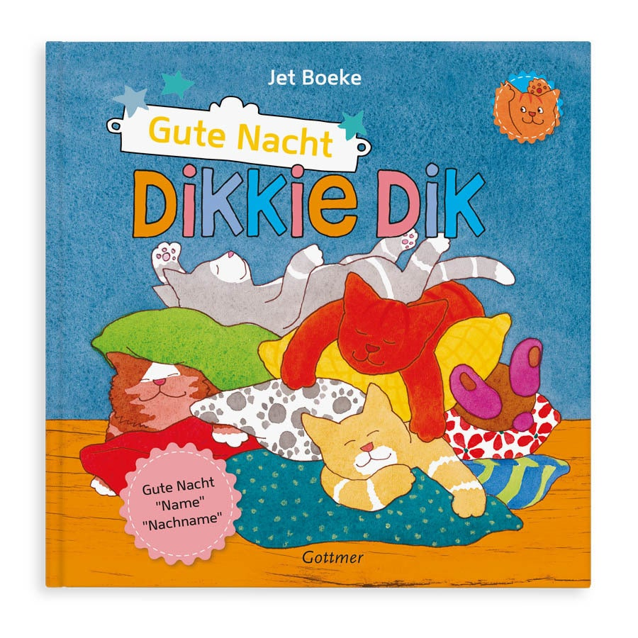 Buch mit Namen - Dikkie Dik Gute Nacht  (Hardcover)