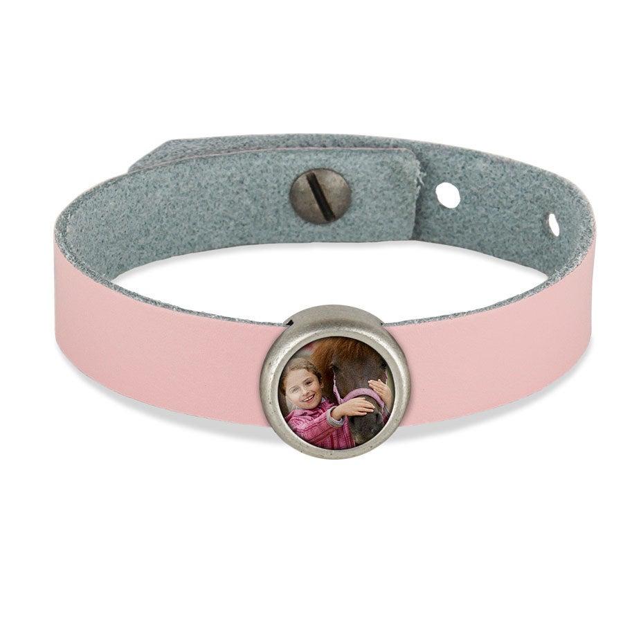 Bracelet personnalisé - rose - 1 charm