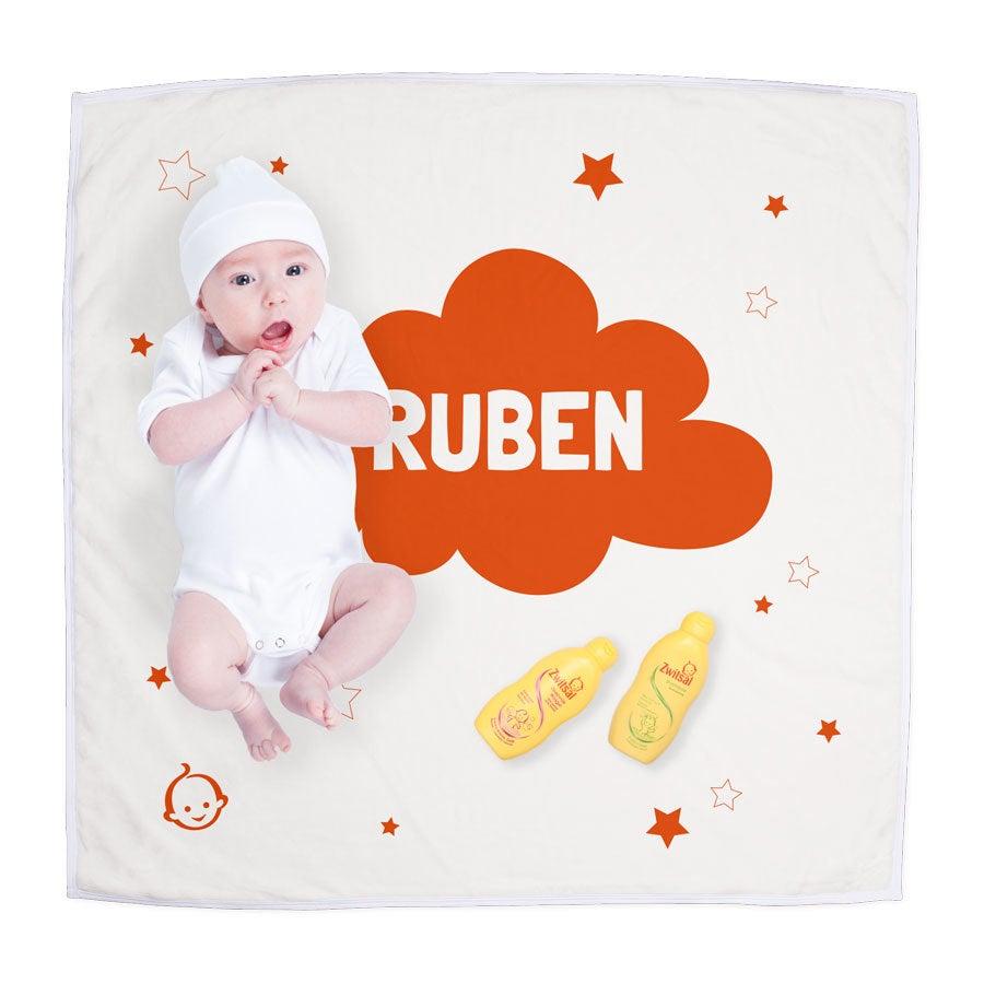 Zwitsal pakket maken - Babydeken met naam