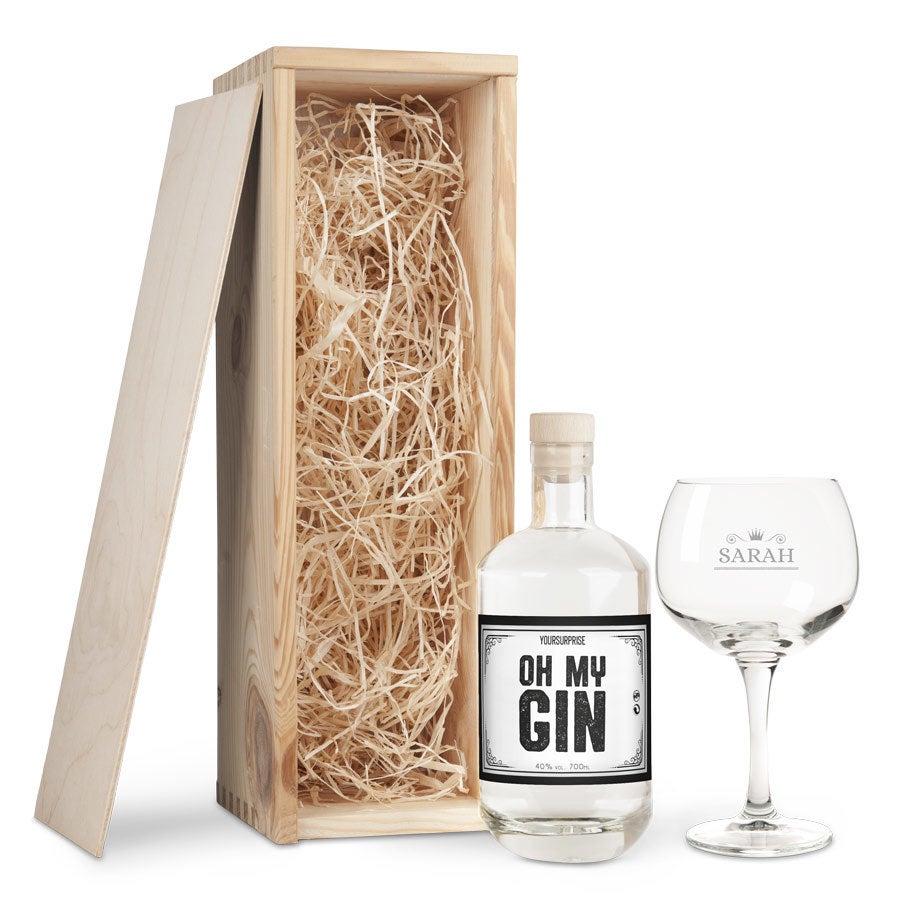 Gin coffret cadeau avec son verre - Gin YourSurprise