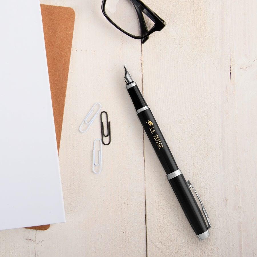 Parker - IM - plniace pero - čierne (pravé)