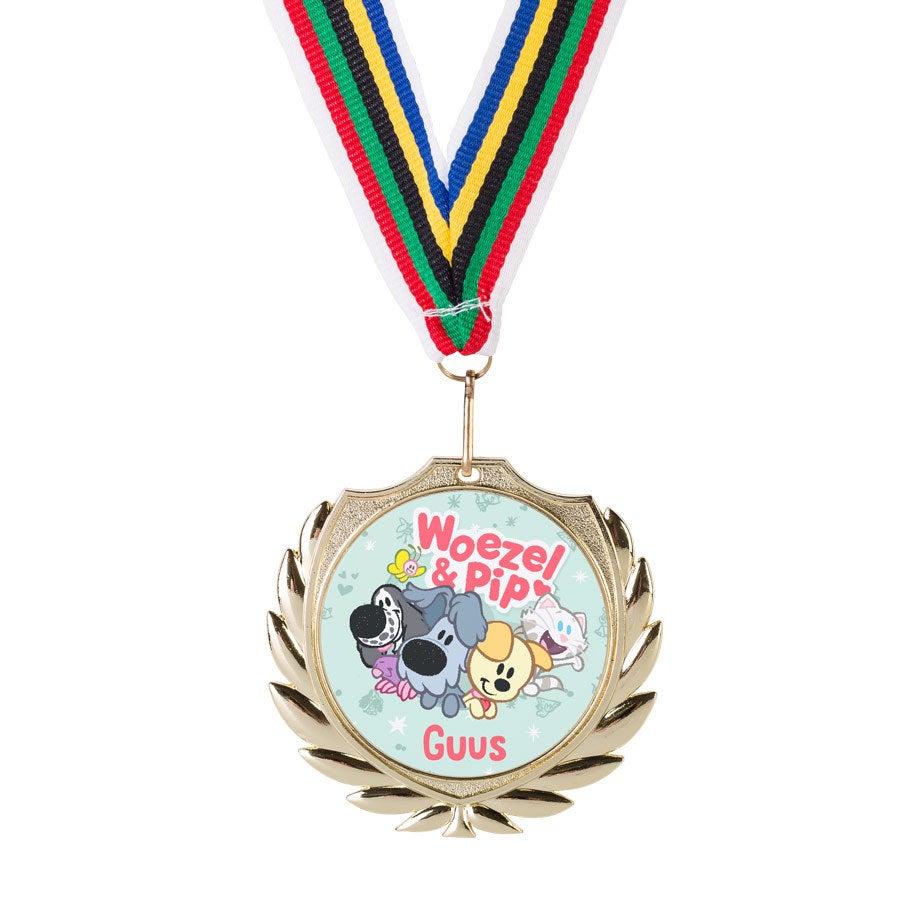 Woezel en Pip medaille - Goud