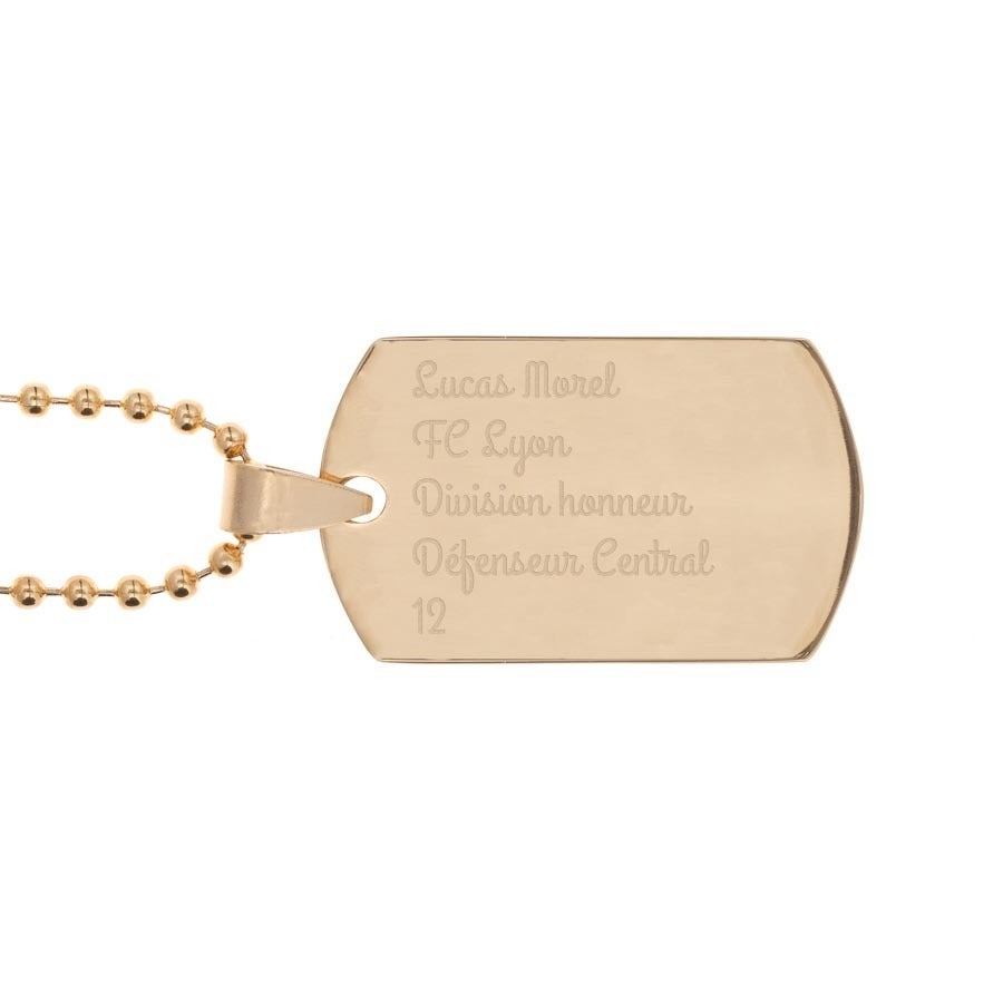 Plaque militaire - Dog tag - Or