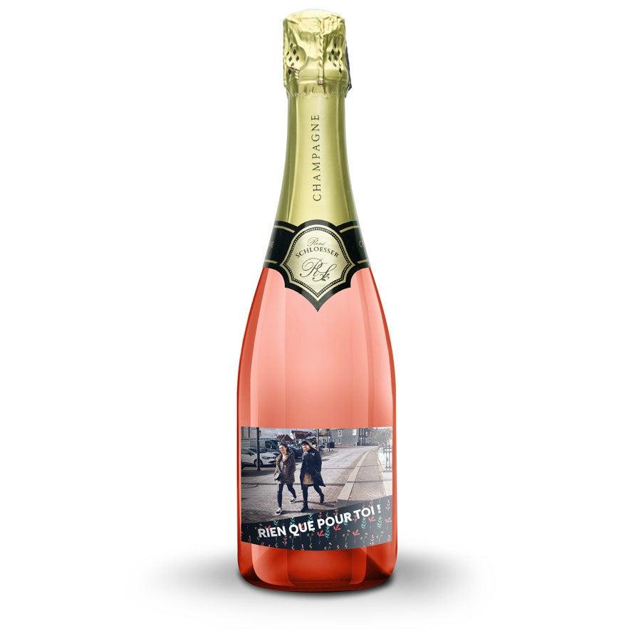 Bouteille Champagne rosé René Schloesser (750ml) - Étiquette imprimée