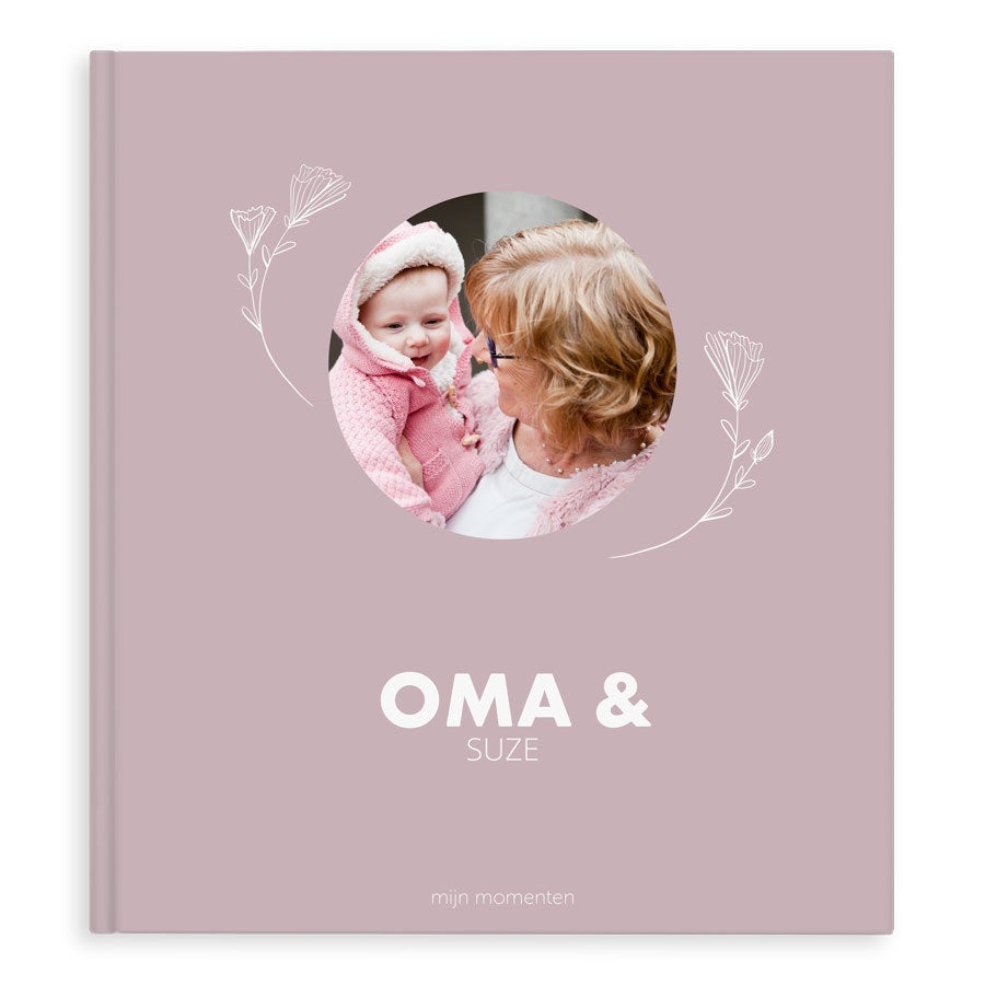 Momenten fotoboek - Oma & ik/wij - XL - Hardcover - 40 pagina's
