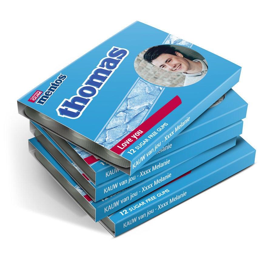 Mentos kauwgompakjes bedrukken - 48 stuks