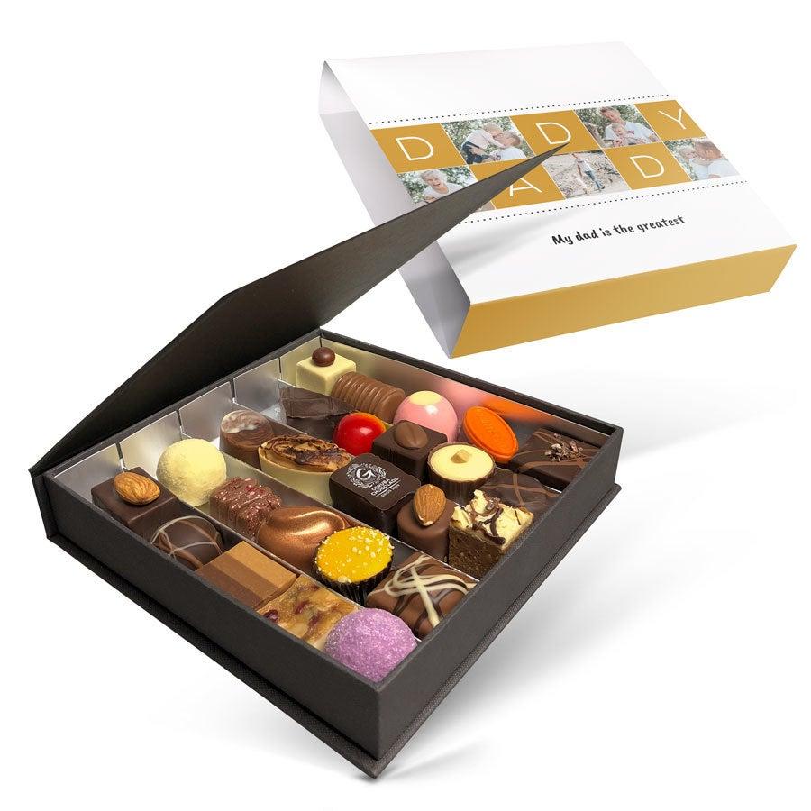 Luksus bonbon gaveeske - Farsdag - sett med 25