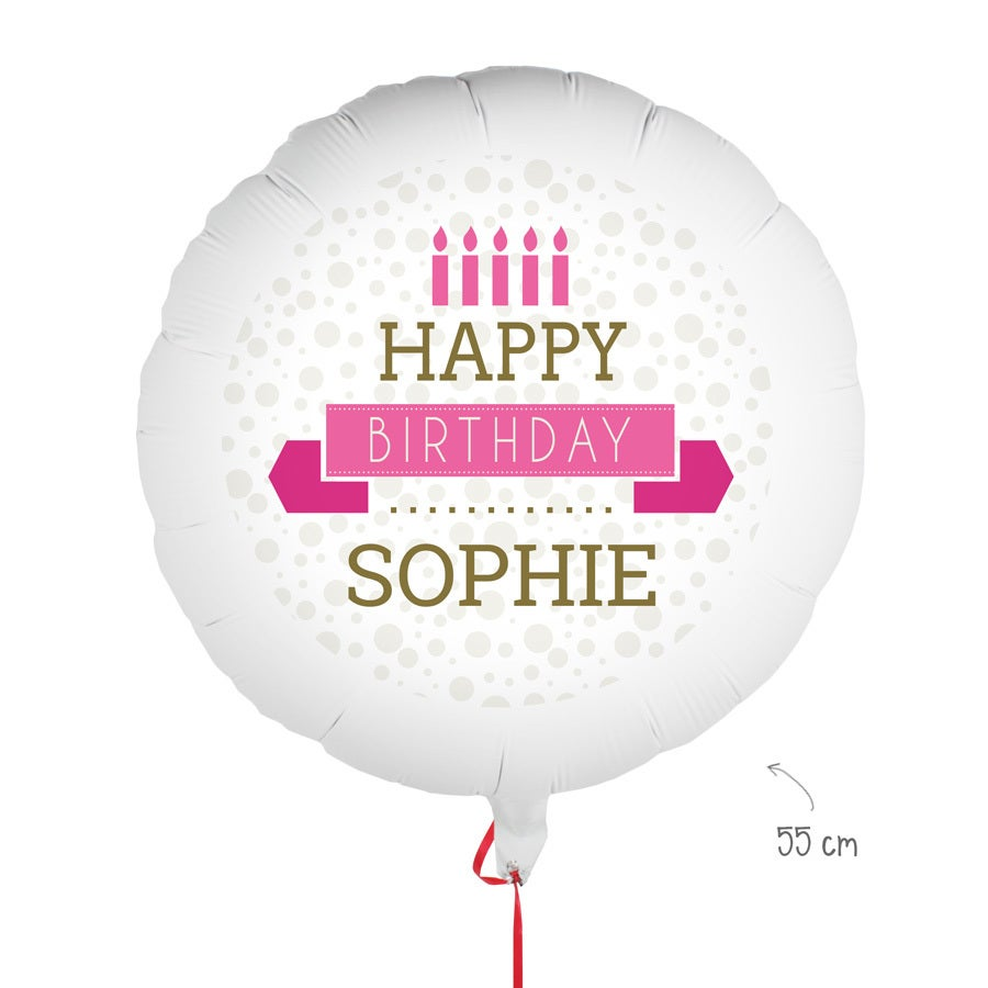 Balão de aniversário com foto