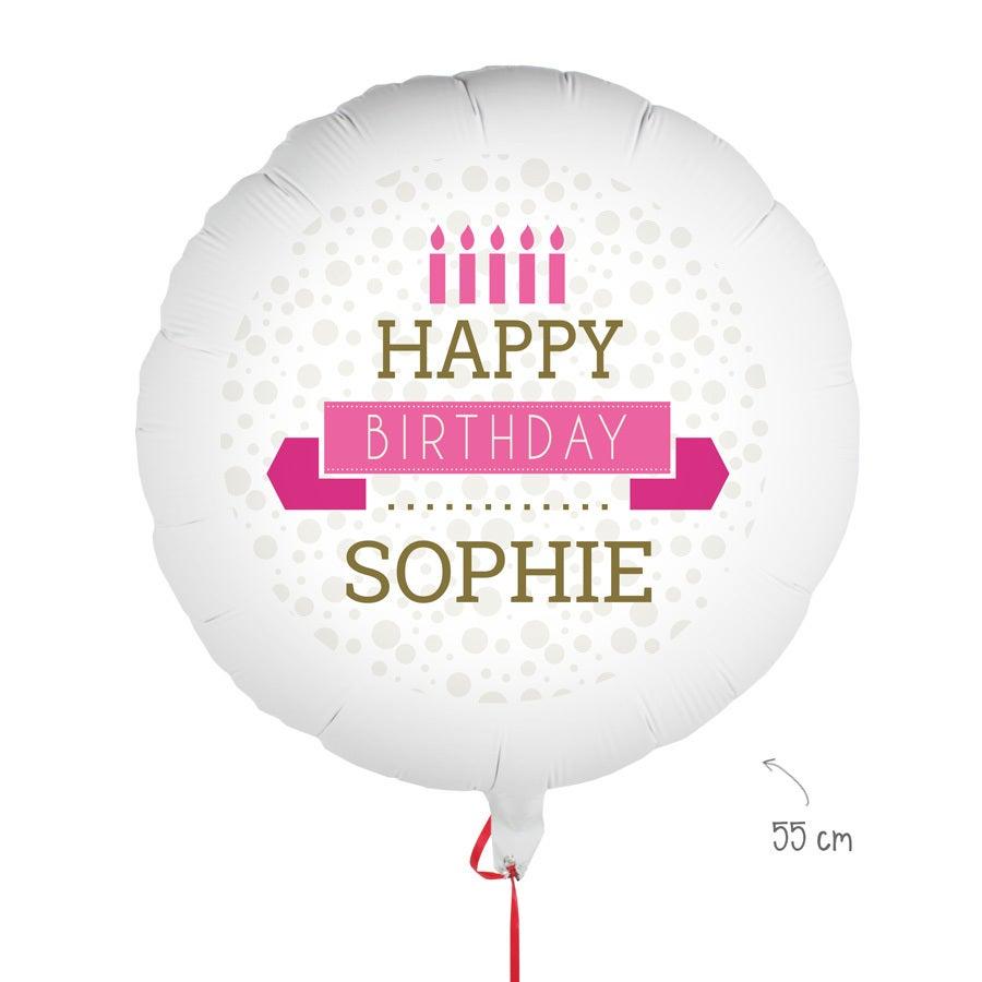Födelsedagballong med foto