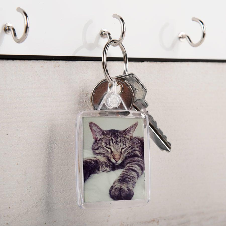 Acyrlic foto nøkkelring - dobbeltsidig (sett med 100)