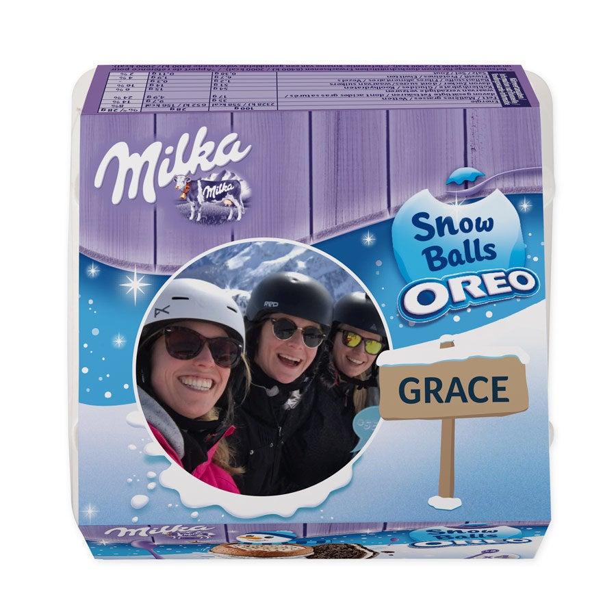 Milka hógolyókat - Oreo