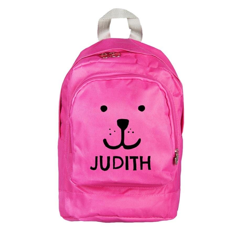 Személyre szabott kisgyermek hátizsák - rózsaszín