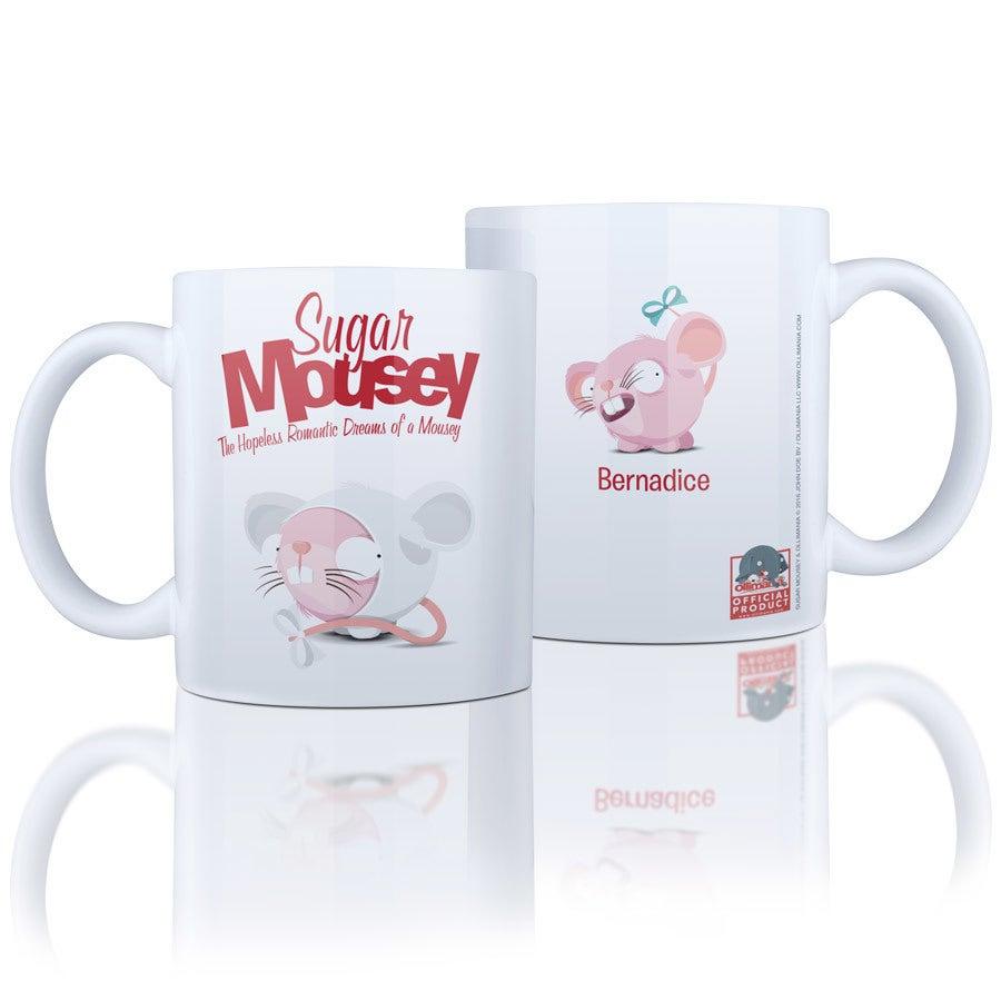 Sukker Mousey krus med navn