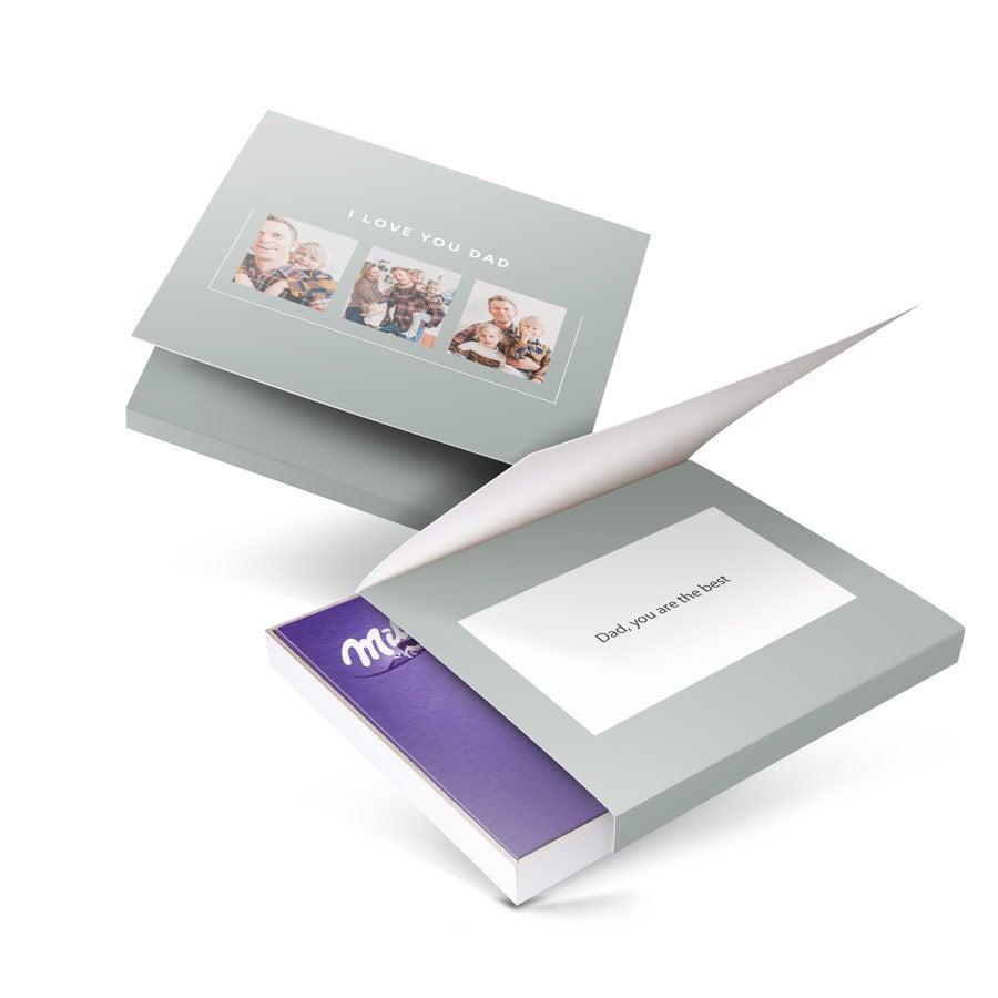 Caixa de chocolate - eu amo Milka! - Dia dos Pais - Coração 110 gramas