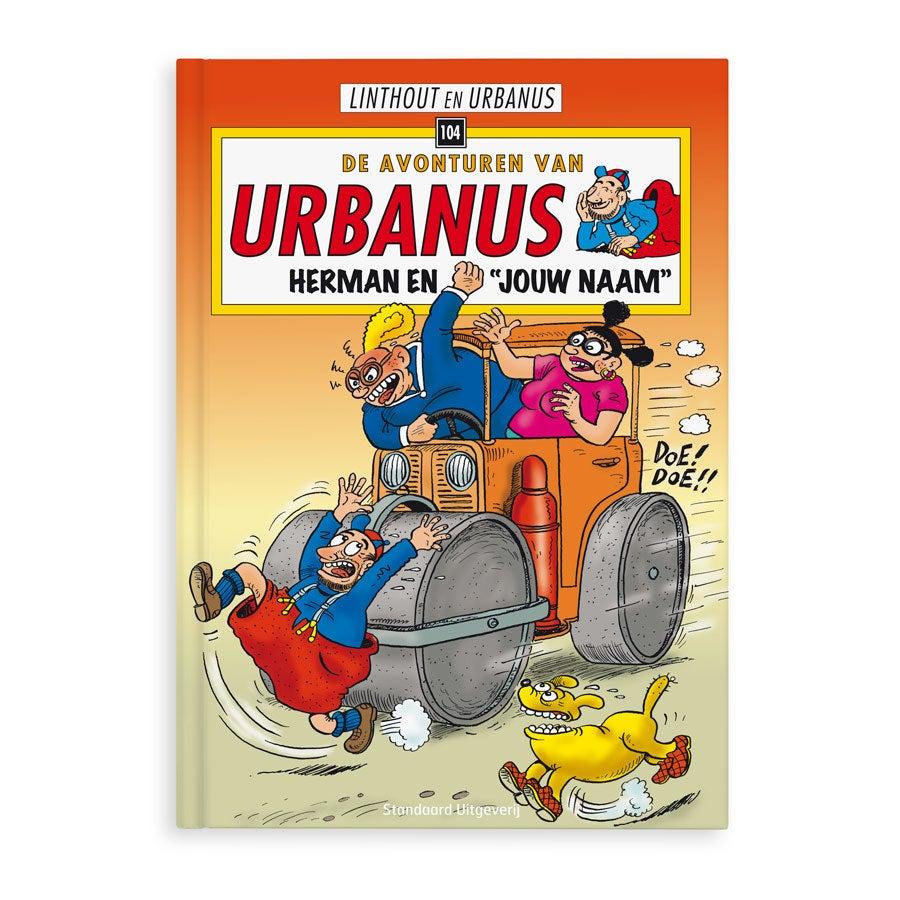 Persoonlijk stripboek met naam en foto - De avonturen van Urbanus 'Herman & Hermien' (Hard