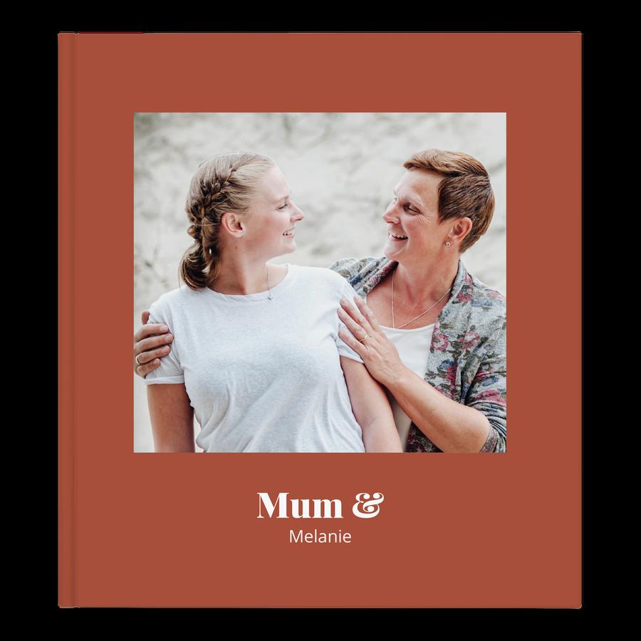 Yksilöitävä kuvakirja äidille - XL- kovakantinen - 40 sivua