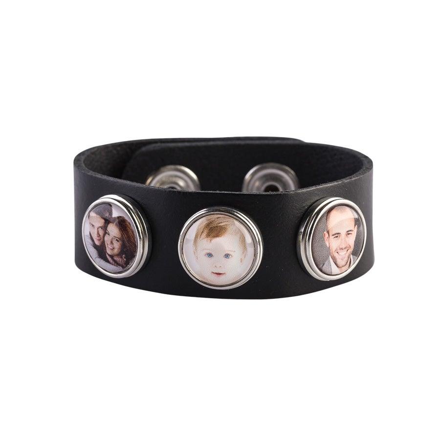 Petit Bracelet Cuir - Noir (1)