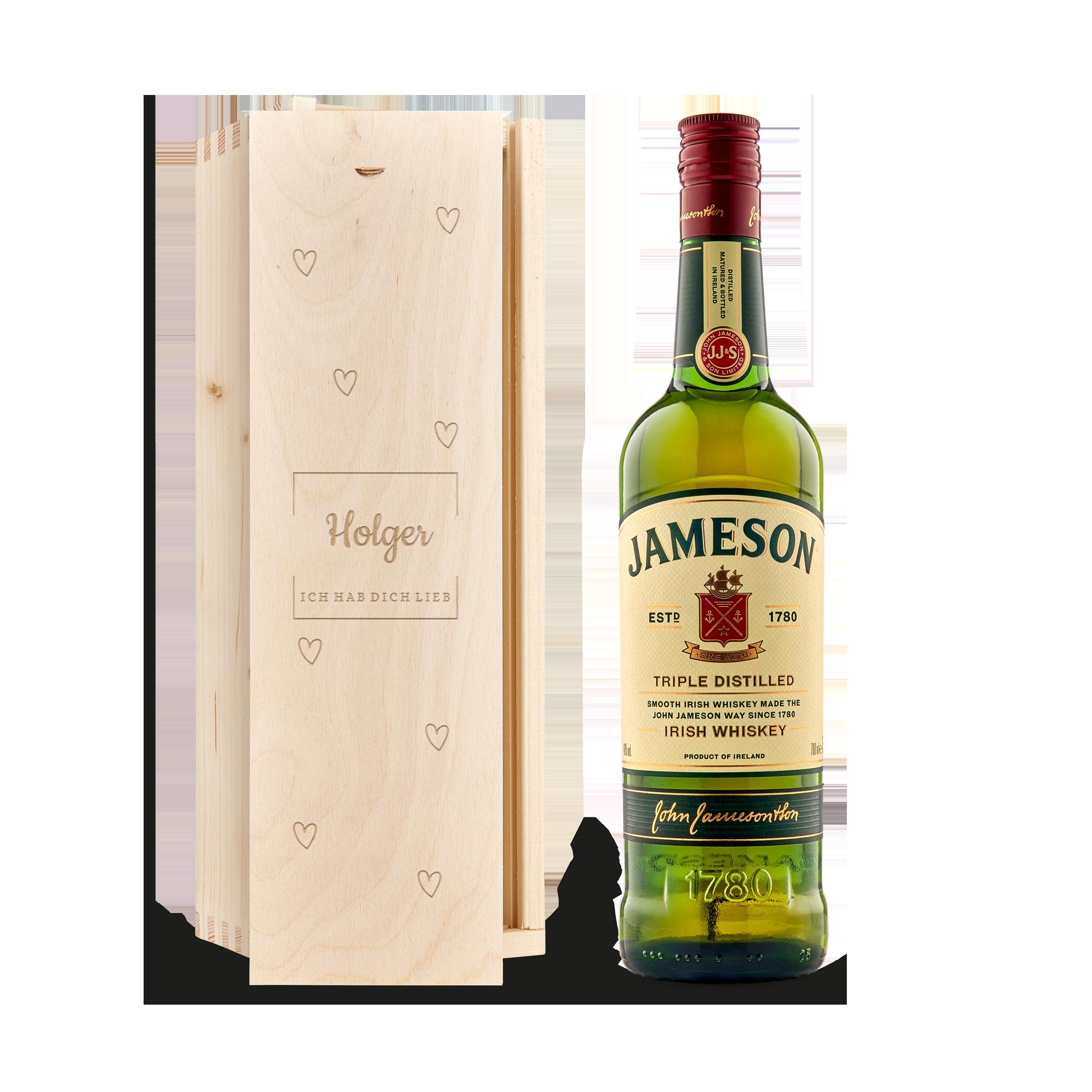 Individuellleckereien - Jameson Whisky in gravierter Kiste - Onlineshop YourSurprise