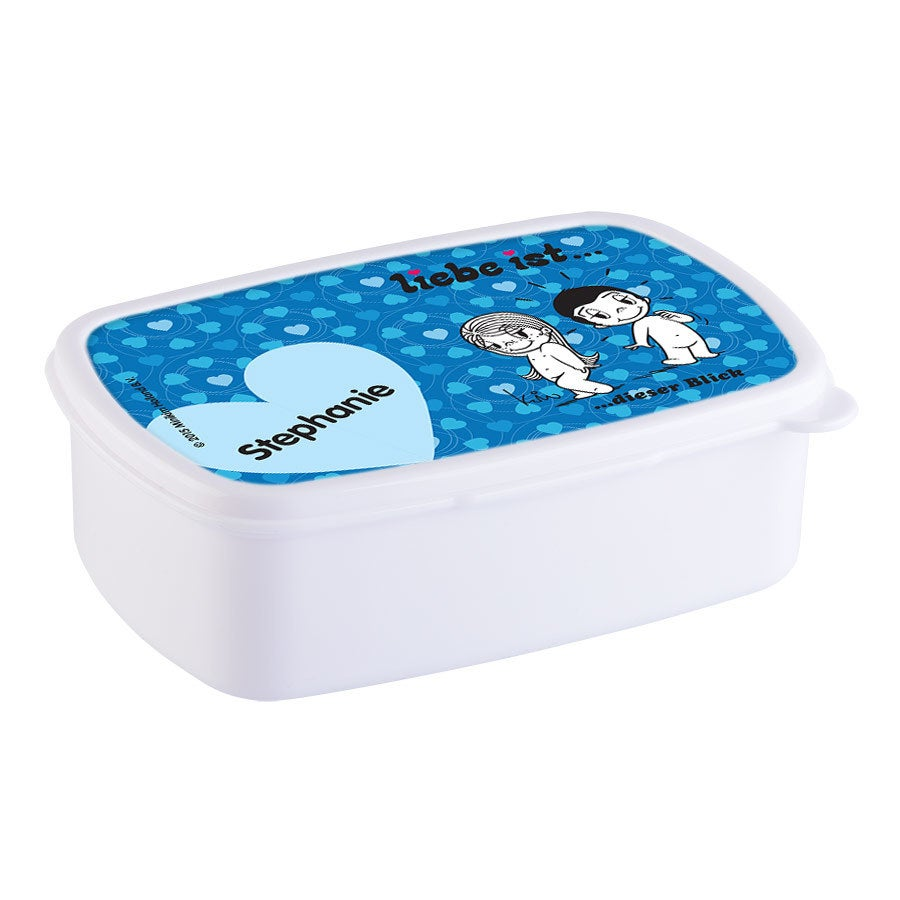 Individuellküchenzubehör - Brotdose mit Namen Liebe ist... Weiß - Onlineshop YourSurprise