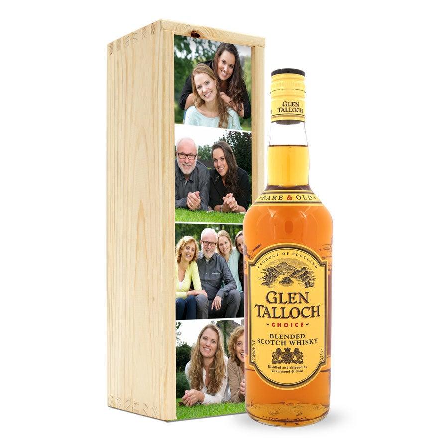 Whisky in bedrukte kist - Glen Talloch