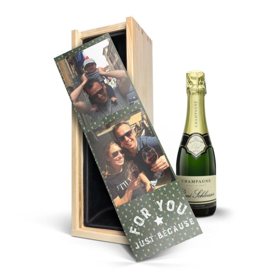 Champagne con cofanetto stampato - René Schloesser (375ml)