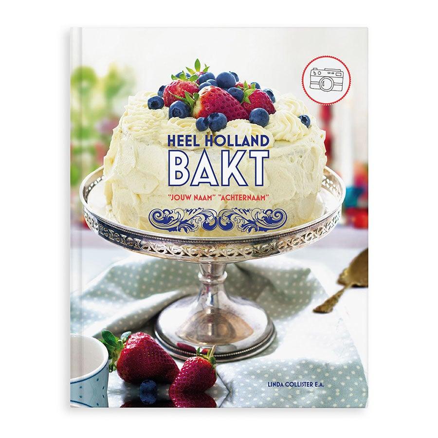 Boek met naam en foto - Heel Holland bakt - Hardcover
