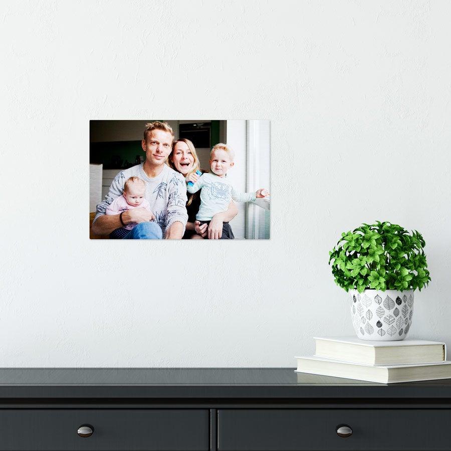 ChromaLuxe Alumiininen valokuvapaneeli - harjattu (30x20cm)