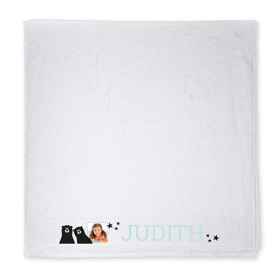 Foto badehåndkle - Hvit