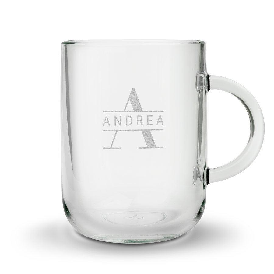 Individuellküchenzubehör - Teeglas mit Gravur rund - Onlineshop YourSurprise