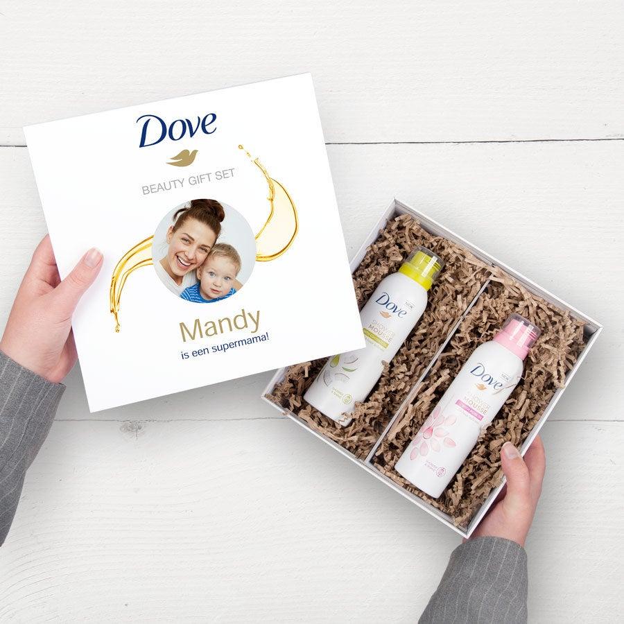 Gepersonaliseerde Dove geschenkset - Shower mousse