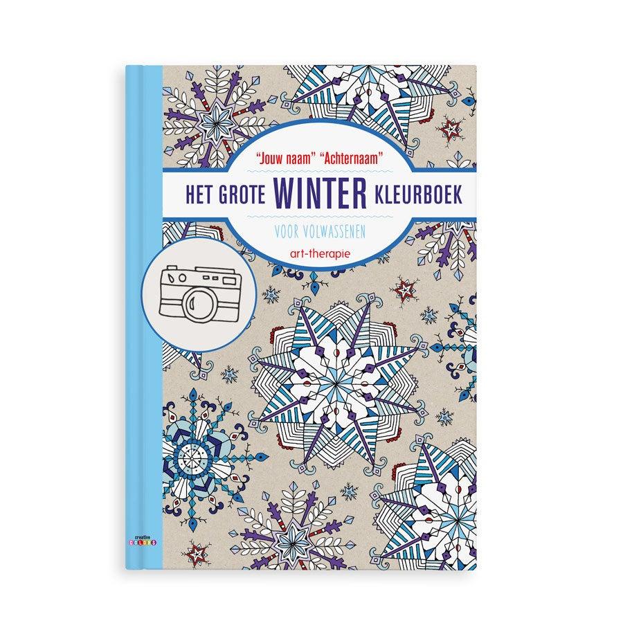 Het grote winter kleurboek voor volwassenen met naam en foto - Softcover