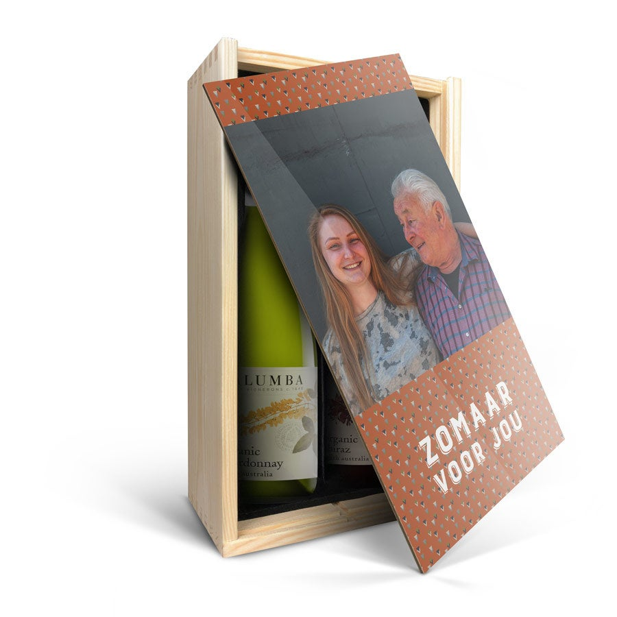 Wijnpakket in kist - Yalumba Organic - Chardonnay en Shiraz