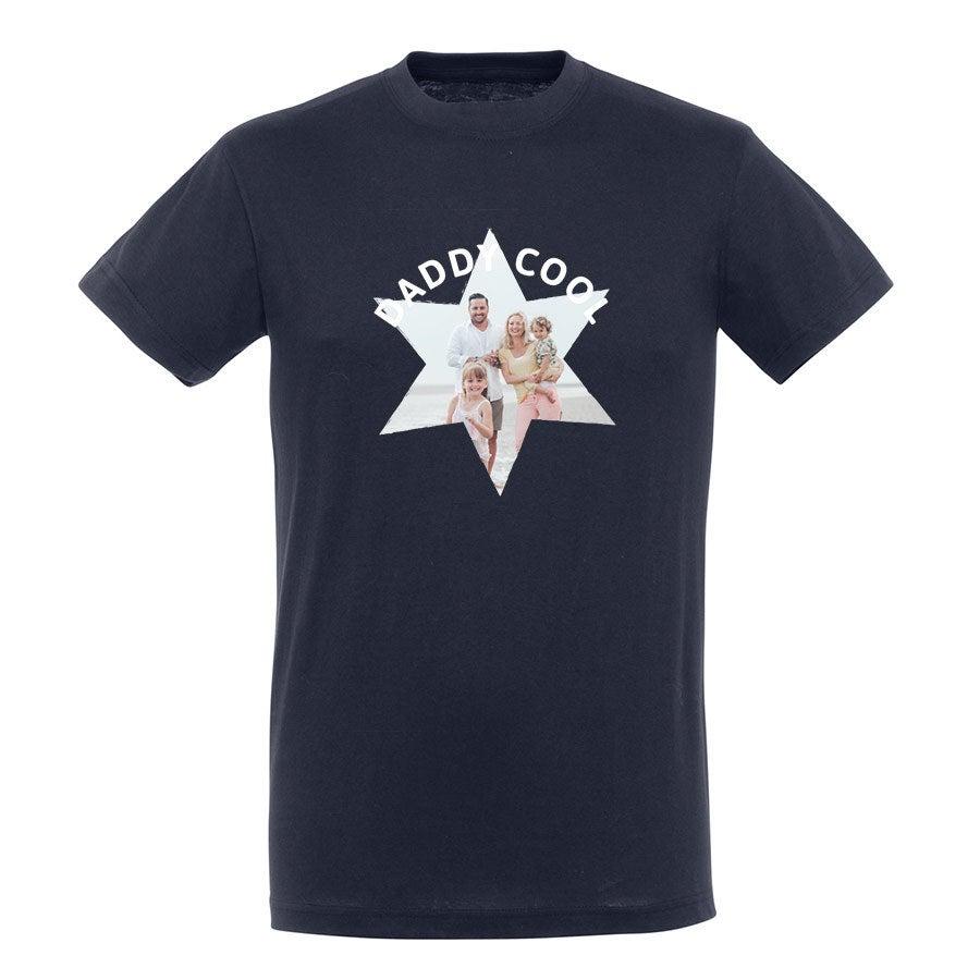 T-shirt voor mannen bedrukken - Navy - XXL