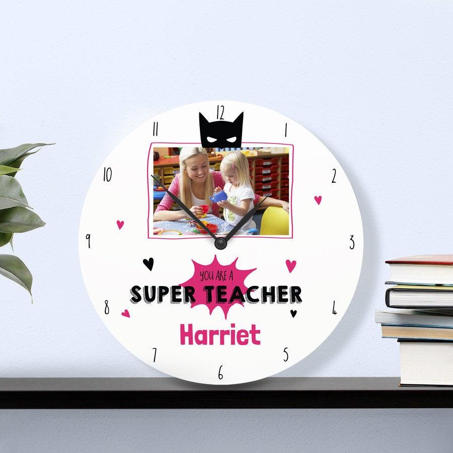 Klokke til lærere - Large - Rund (hard trefiber)