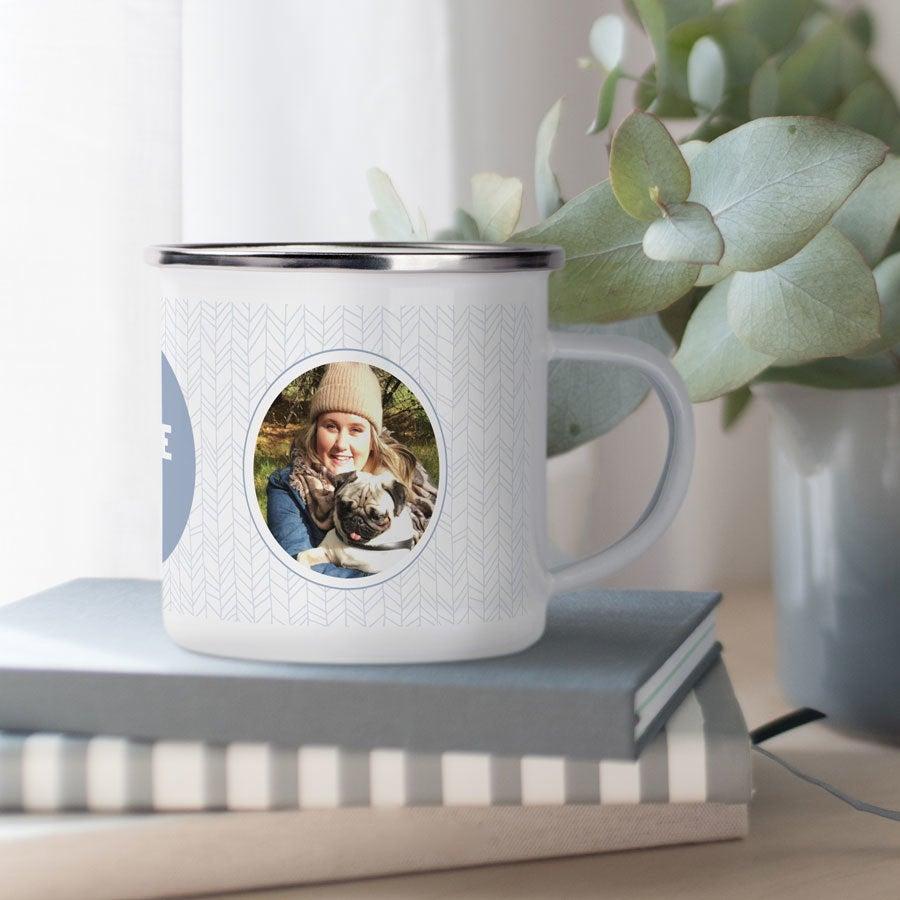 Emaljert kopp - valentinsdag