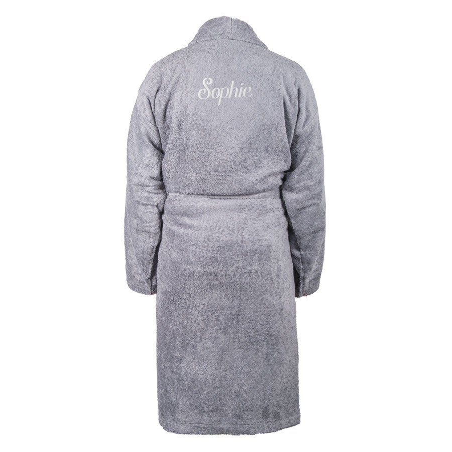 Bademantel Damen - Grau (L/XL)