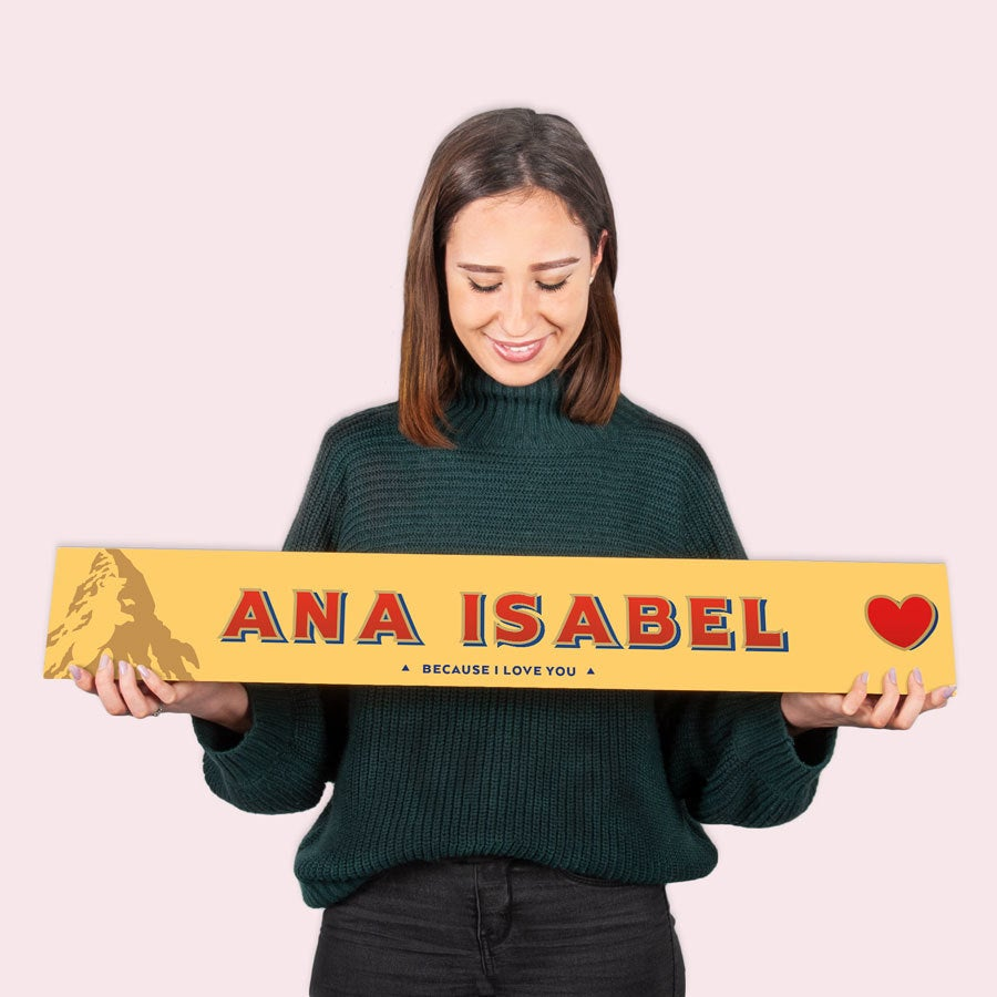 Barra de chocolate Toblerone - XXL - Amor