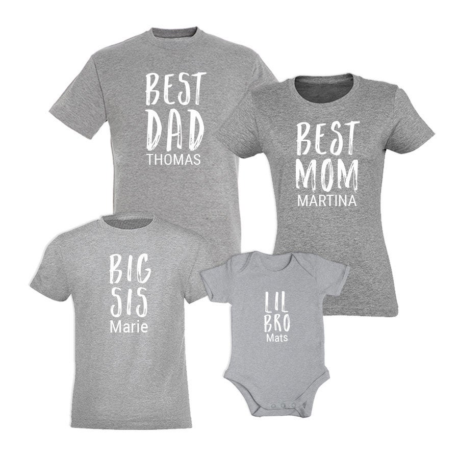 Individuellbabykind - Familienset T Shirt Kind Grau 12 Jahre - Onlineshop YourSurprise