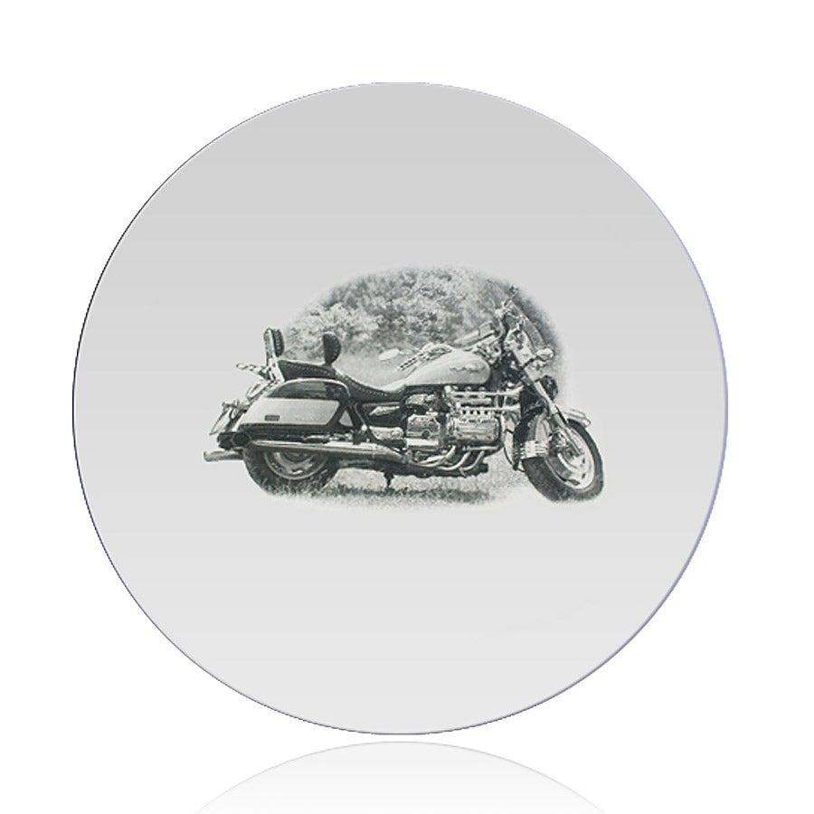 Spejl indgraveret - Rund