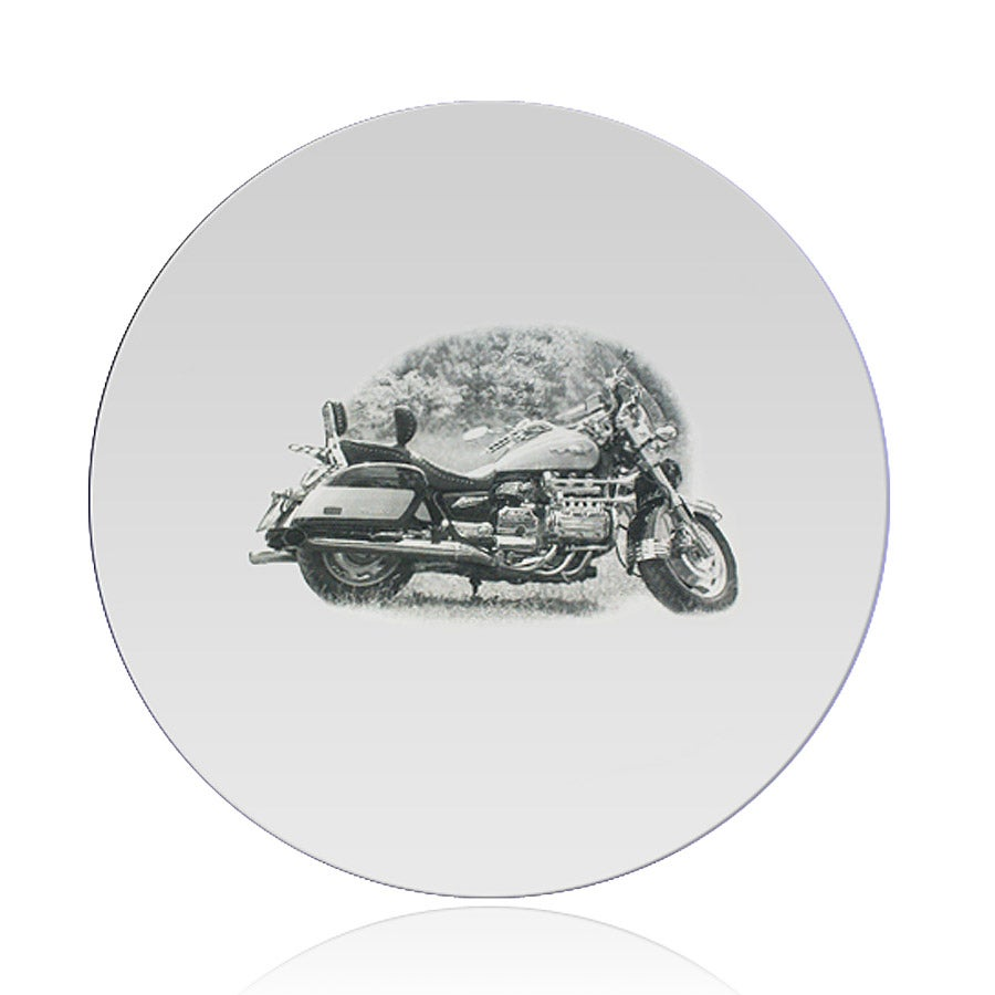 Zrkadlo - gravírované - okrúhle