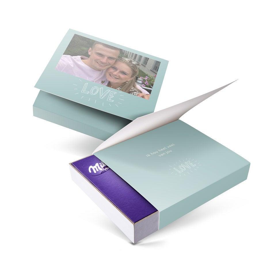 Milka giftbox bedrukken - Liefde - 220 gram