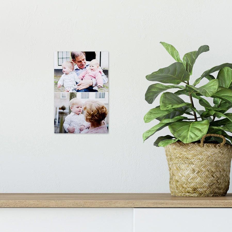 ChromaLuxe alumiininen valokuvapaneeli - harjattu (10x15cm)