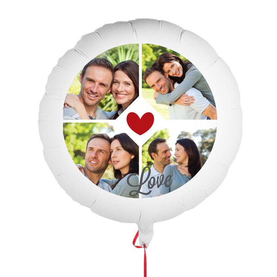 Ballong med foto - Kärlek