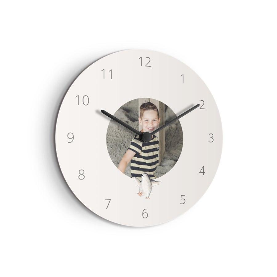 Zegar dla dzieci - średnio - okrągły (płyta pilśniowa)