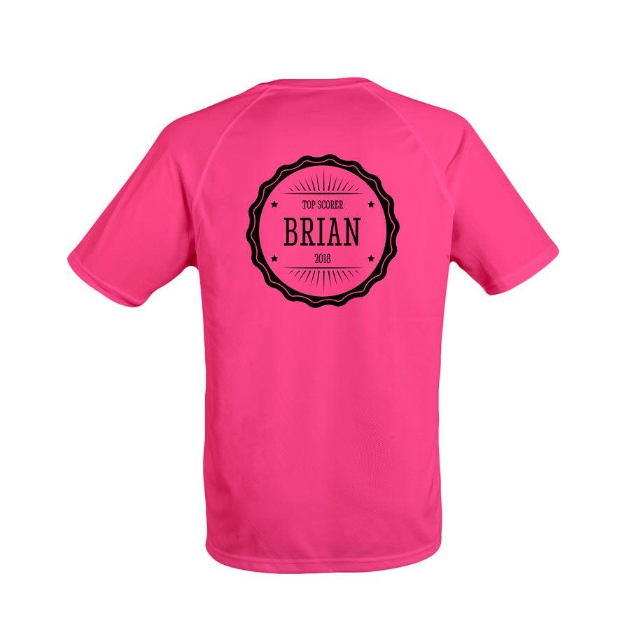 Miesten urheilullinen t-paita - Fuchsia - S