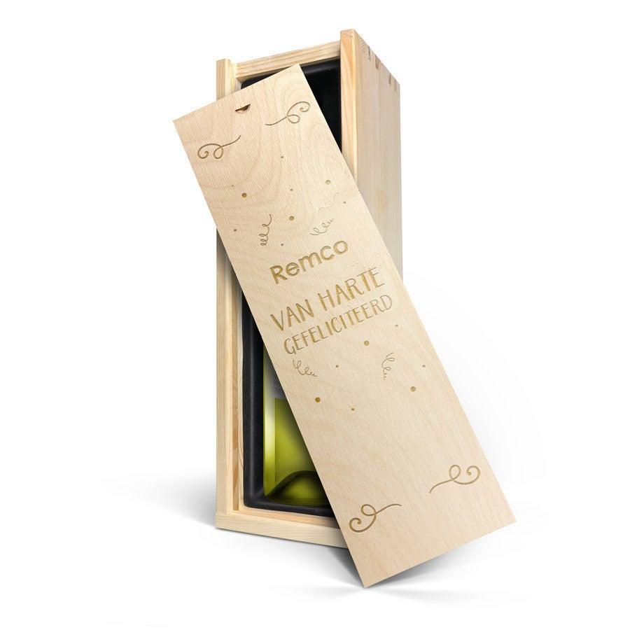 Wijn in gegraveerde kist - Oude Kaap - Wit