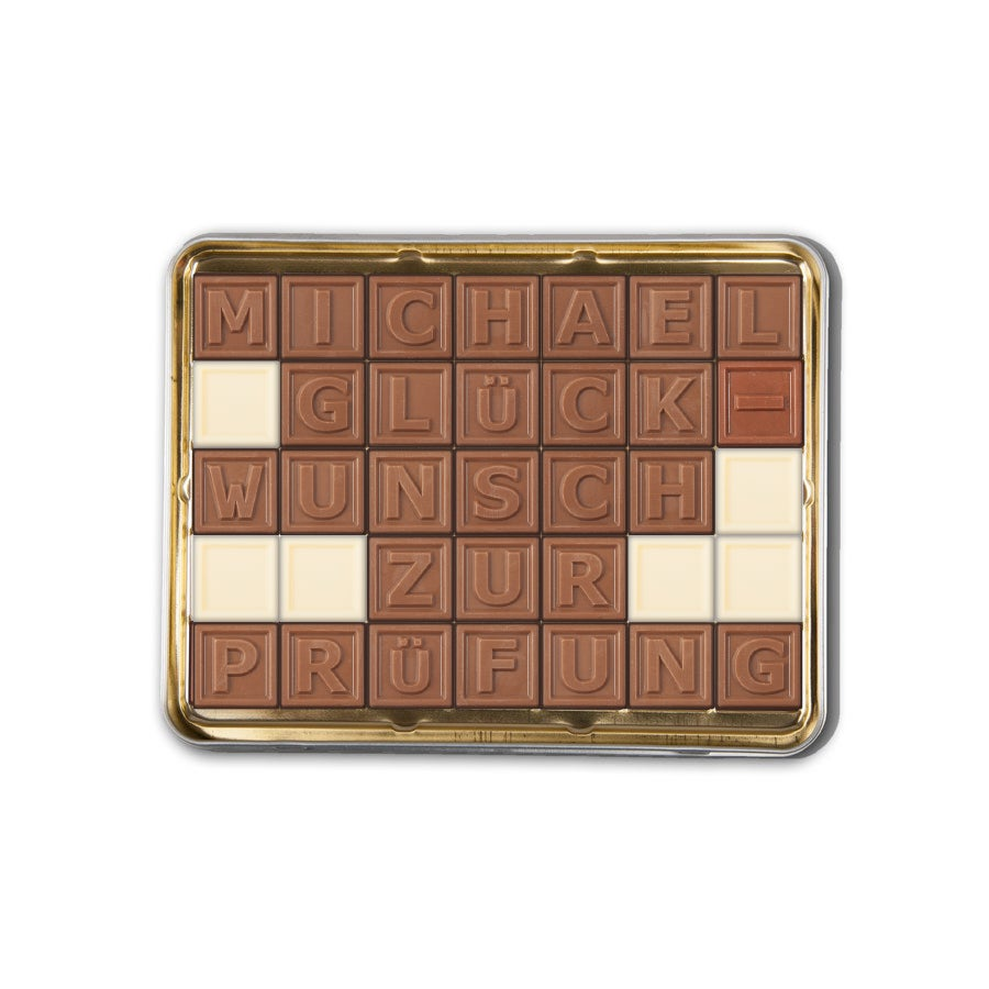 Individuellleckereien - Chocotelegram Blechdose 5x7 - Onlineshop YourSurprise