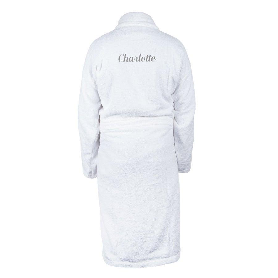 Roupão de banho para mulheres - branco L / XL